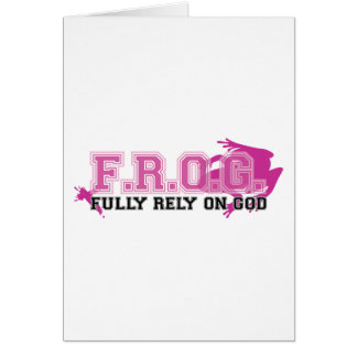 F.R.O.G. - Fully rely on God (pink) Greeting Cards
