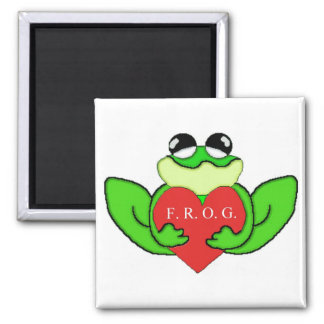 F.R.O.G.I.E. FULLY RELY ON GOD IN EVERTHING SQUARE MAGNET