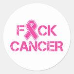 F(ribbon)CK Cancer Round Sticker