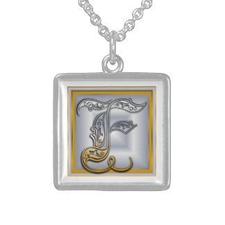 F Royal Initial Monogram Necklace Necklace