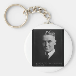 F Scott Fitzgerald Tender Curiosity Gifts & Tees Keychains