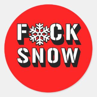 F SNOW CLASSIC ROUND STICKER