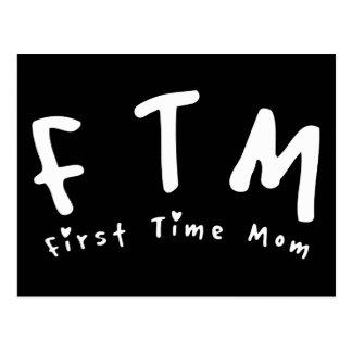 F.T.M. First Time Mum Postcard
