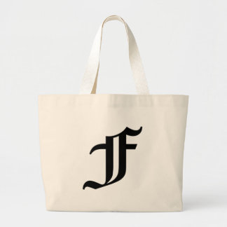 F-text Old English Large Tote Bag