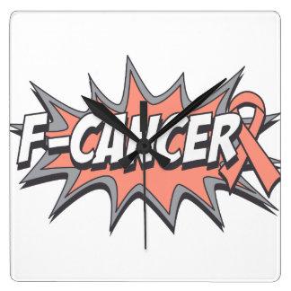 F-Uterine Cancer Square Wallclocks