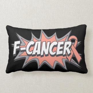 F-Uterine Cancer Throw Pillows