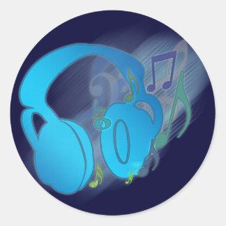 F* Yeah! Music! Round Sticker