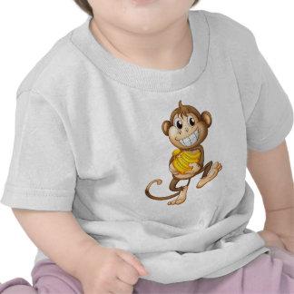 fA happy monkey with bananas Shirt