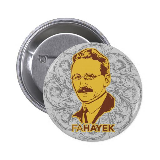 FA Hayek Button Pin