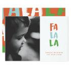 Fa La La Holiday Photo Card