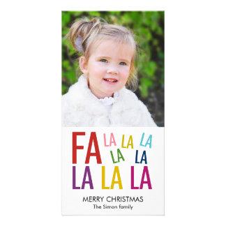 Fa La La Holiday Photo Card Photo Greeting Card