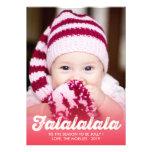 Fa La La La La Christmas Photo Holiday Greetings Custom Invite