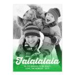 Fa La La La La Christmas Photo Holiday Greetings Personalised Invites