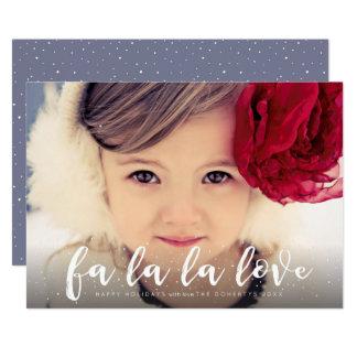 Fa La La La Love Christmas Photo Greeting 13 Cm X 18 Cm Invitation Card