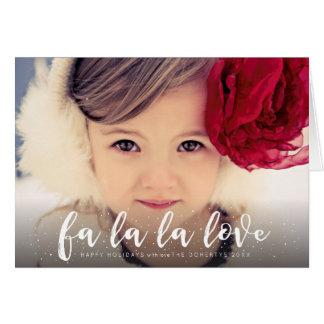Fa La La La Love Christmas Photo Greeting Note Card