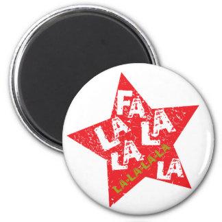 Fa La La Star Studded 6 Cm Round Magnet