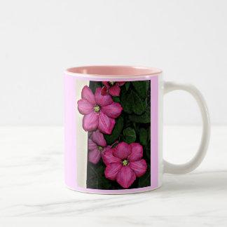 FA- Pink clematis mug