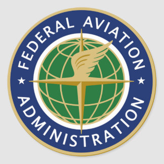 FAA FEDERAL AVIATION CLASSIC ROUND STICKER