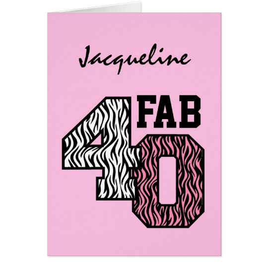 Fab 40 Pink Zebra Print Gift Collection Z309