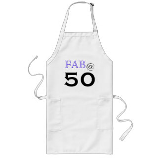 """Fab @ 50"" Birthday Party Apron"