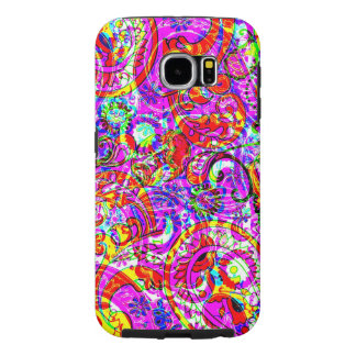 Fab Hipster Retro Purple Red Paisley Pattern