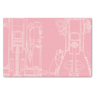 Blueprint craft supplies zazzle fab mechanical drawing blueprint your custom color tissue paper malvernweather Images