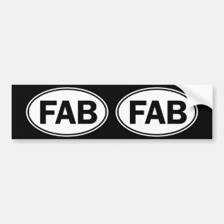 FAB Oval Identity Sign Bumper Sticker