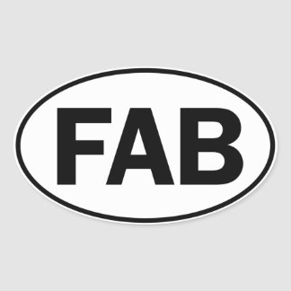 FAB Oval Identity Sign Oval Sticker