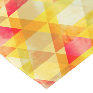 Fab Yellow & Red Triangle Geometric Design Short Table Runner