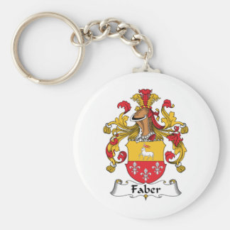 Faber Family Crest Basic Round Button Key Ring