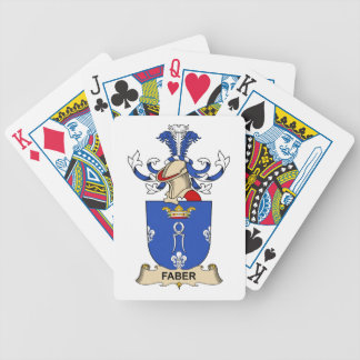 Faber Family Crest Bicycle Poker Cards