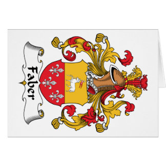 Faber Family Crest Greeting Cards