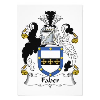 Faber Family Crest Card
