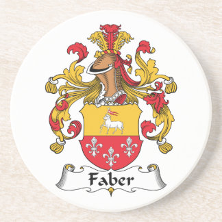 Faber Family Crest Drink Coasters