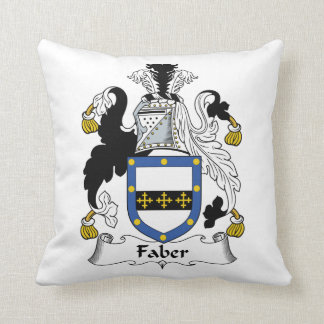 Faber Family Crest Throw Pillows
