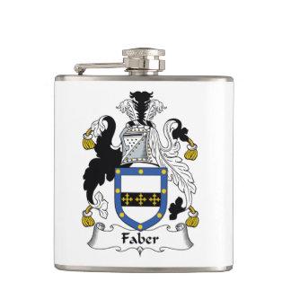 Faber Family Crest Hip Flasks