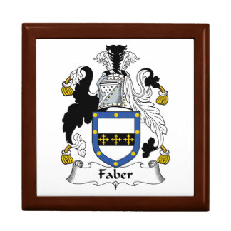 Faber Family Crest Jewelry Boxes