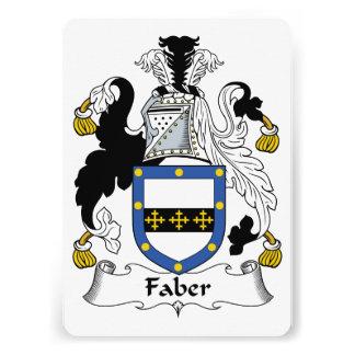 Faber Family Crest Custom Invite