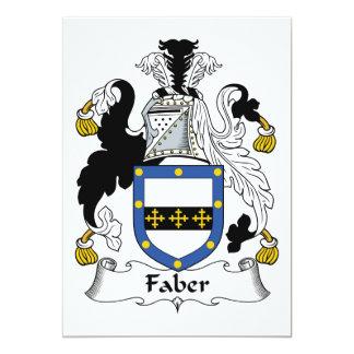 "Faber Family Crest 5"" X 7"" Invitation Card"