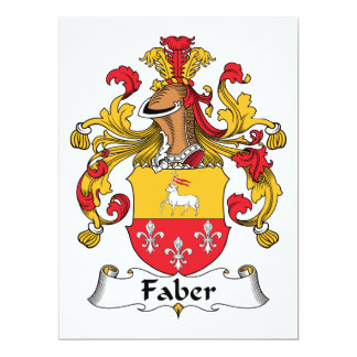 Faber Family Crest Invitations