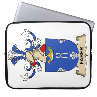 Faber Family Crest Laptop Computer Sleeve