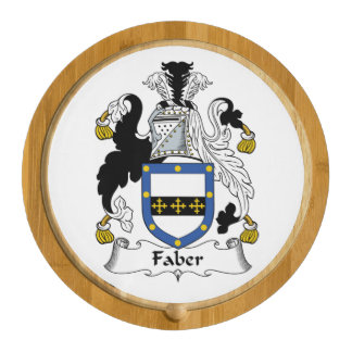 Faber Family Crest Round Cheese Board
