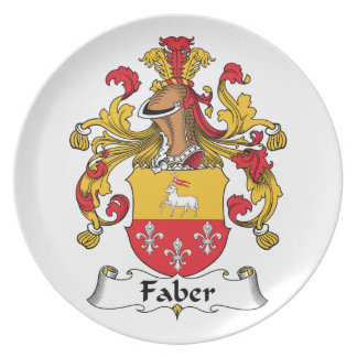 Faber Family Crest Party Plate