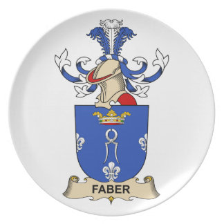 Faber Family Crest Plates
