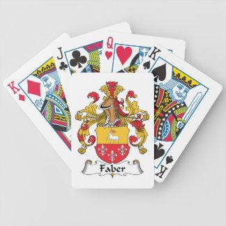 Faber Family Crest Poker Deck