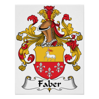 Faber Family Crest Posters