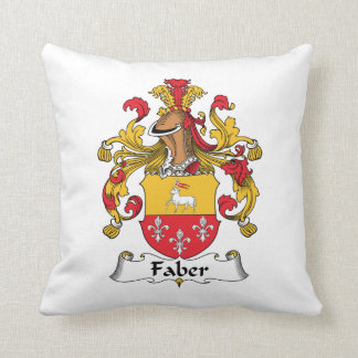 Faber Family Crest Throw Pillows