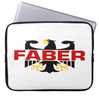 Faber Surname Computer Sleeves