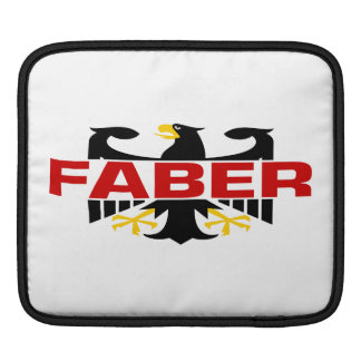 Faber Surname Sleeve For iPads