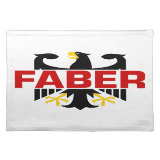 Faber Surname Placemat